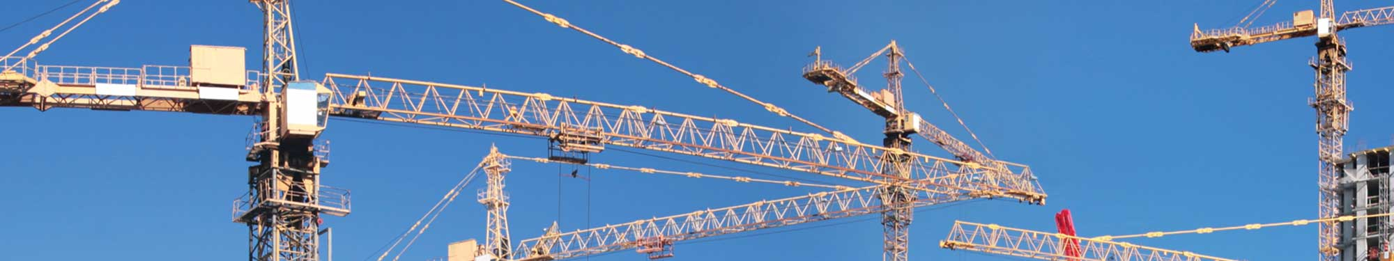 Cranes working on a commercial development project